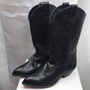 Code West Women's Black Leather Cowboy Boots
